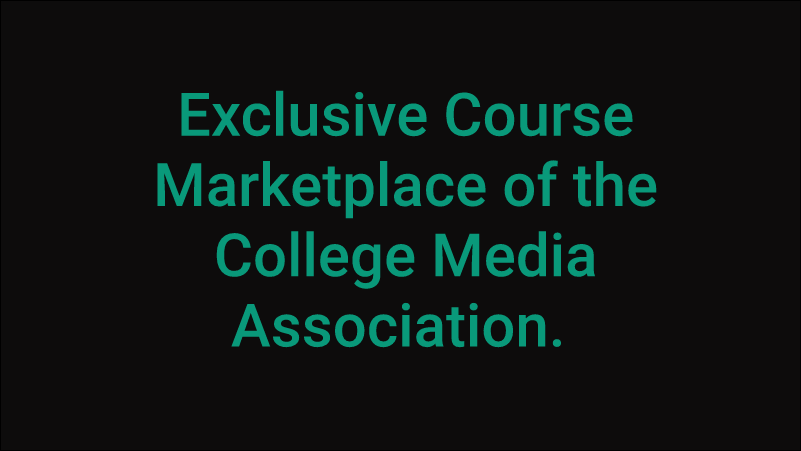 Sign up for online learning to boost your media career.